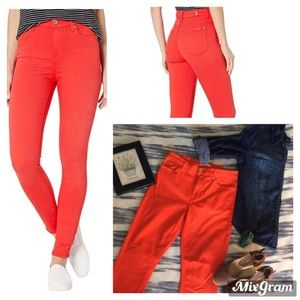 7 For All Mankind Red Straight Leg Jeans